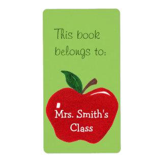 Apple Bookplate Sticker - Label