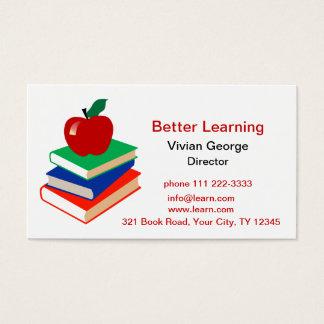 Apple, Books, Education Business Card