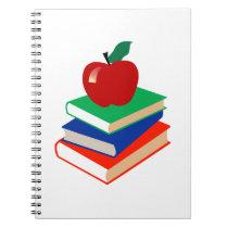 Apple, Books, Education Notebook
