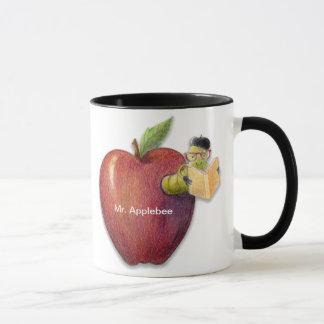 Apple Bookworm Customizable Name or Message Mug