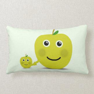 Apple boyfriends throw pillow