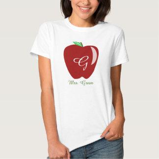 Apple brillante del profesor playera