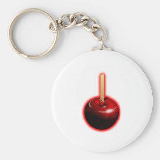 Apple brillante rojo - fruta prohibida llavero redondo tipo pin