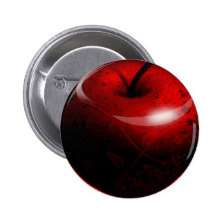 Apple brillante rojo - fruta prohibida pin
