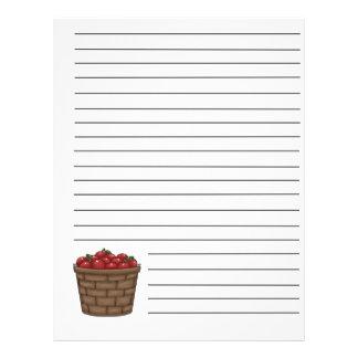 Apple Bushel Basket Recipe Binder Pages