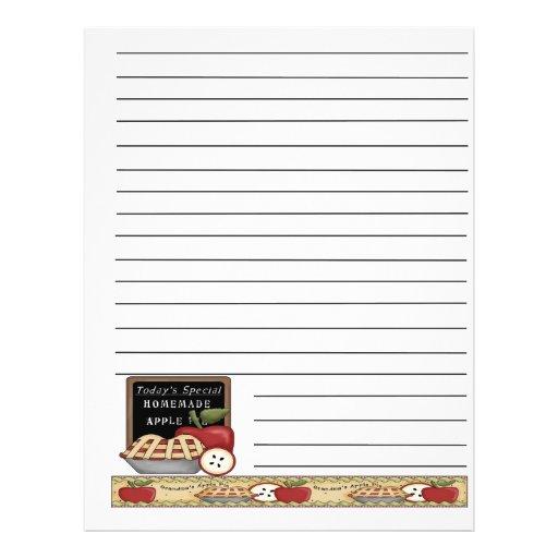 Apple Bushel Basket Recipe Binder Pages Flyer