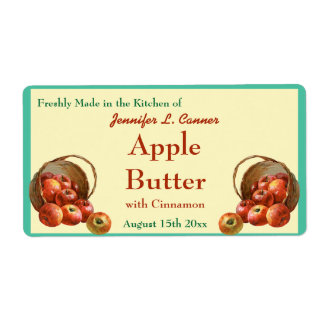 Apple Butter Canning Jar Food Label Shipping Label