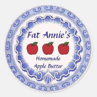 Apple Butter Label Classic Round Sticker