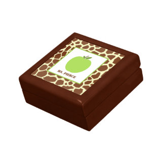 Apple/caja de regalo verdes del profesor del estam