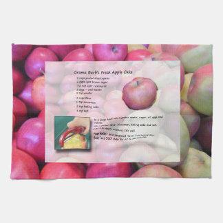 Apple Cake Recipe Kitchen Towel