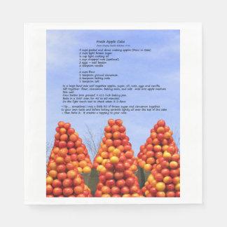 Apple Cake Recipe Paper Napkin