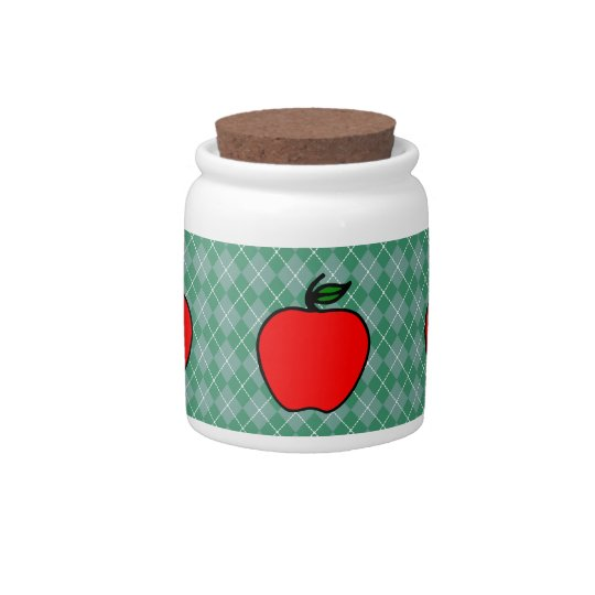 Apple Canister Candy Dish