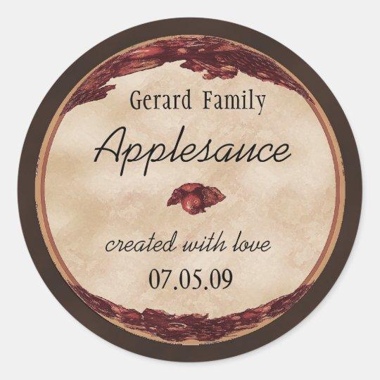 apple canning label 1