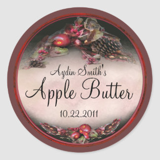 Apple Canning Label 2 Classic Round Sticker