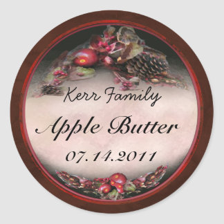 Apple canning label 3 classic round sticker
