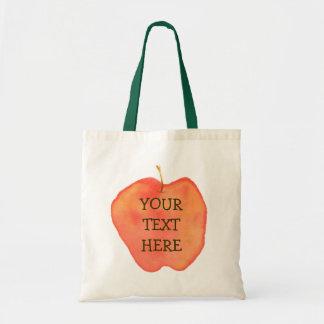 Apple Canvas Bags
