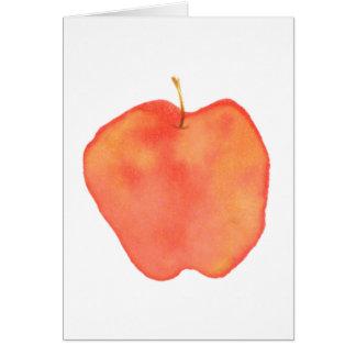 Apple carda tarjeta pequeña