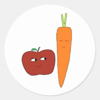 Apple-Carrot Classic Round Sticker