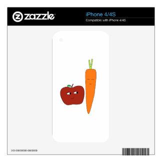Apple-Carrot iPhone 4S Decals