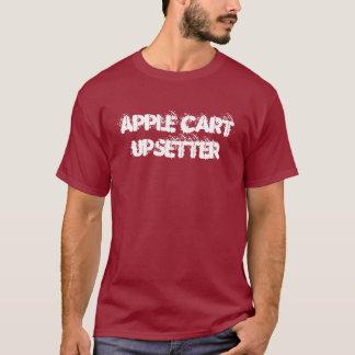 Apple Cart Upsetter t-shirt  | blank back