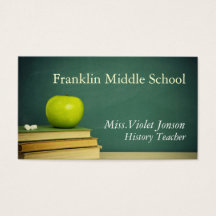 Middle school teacher business cards templates zazzle reheart Gallery