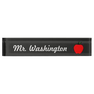 Apple Chalkboard Teacher's Desk Nameplate Gift