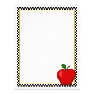 Apple & Checkerboard Recipe Sheets