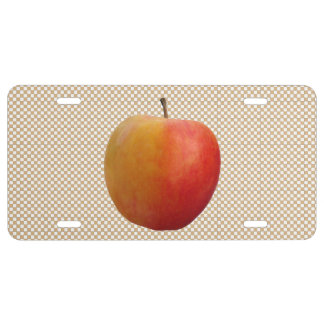Apple...choose your background color. license plate