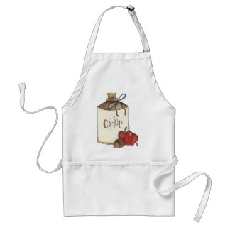 apple cider and apple picking adult apron