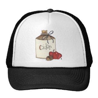 apple cider and apple picking trucker hat