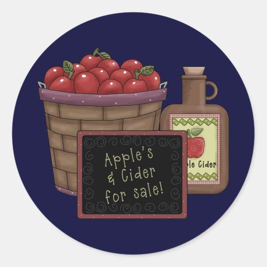 Apple Cider Classic Round Sticker
