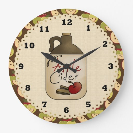 Apple Cider Country Kitchen Clock