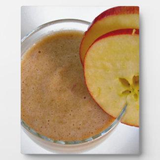 Apple cinnamon smoothie plaque