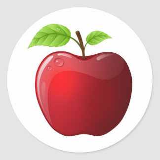 apple classic round sticker