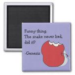 Apple comido la serpiente nunca mintió imán de la