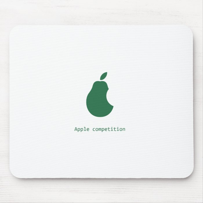 apple competion-pear mousepad