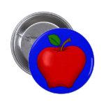 Apple con el fondo azul abotona pins