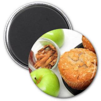 Apple condimenta los molletes imán redondo 5 cm