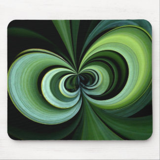 Apple core in green! mouse pad