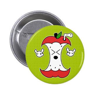 Apple Core Pinback Button