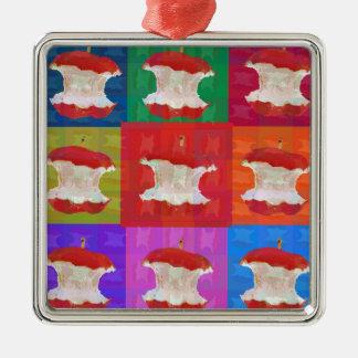Apple Core Pop Art Metal Ornament