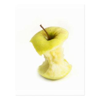 Apple core postcard