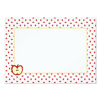 """Apple Cores Personal Stationery 4.5"""" X 6.25"""" Invitation Card"""