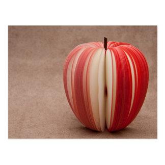 Apple cortó arte tarjeta postal