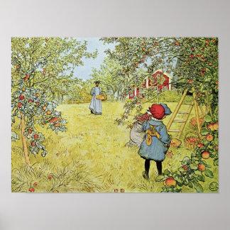 Apple cosecha póster