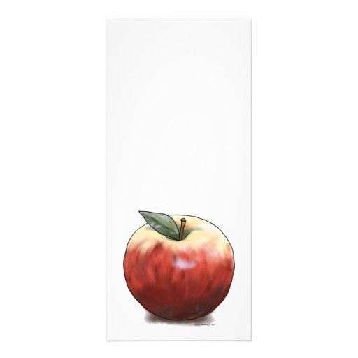 Apple crujiente diseños de tarjetas publicitarias