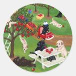 Apple cultiva Labradors Etiqueta Redonda