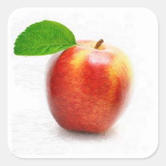 Apple da fruto arte de la pintura - pegatinas
