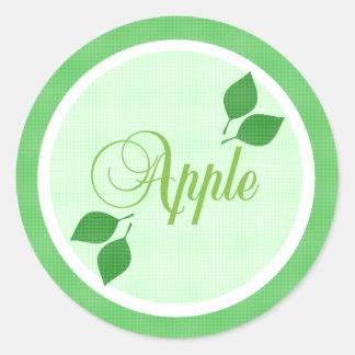 Apple da fruto etiqueta autoadhesiva