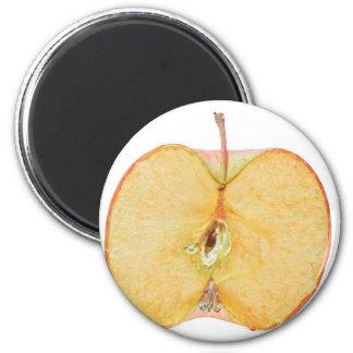 Apple da fruto rebanada imán de nevera